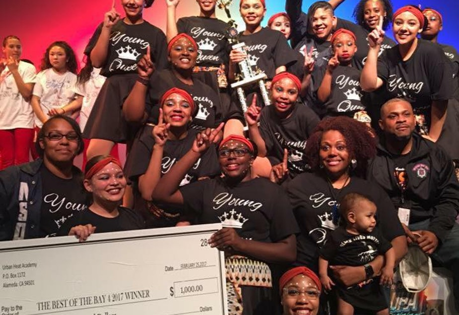 caption: Northside Step Team wins first place for their Black Lives Matter piece at the 2017 Best of Bay Step Competition.